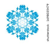 circle snowflake ornaments.... | Shutterstock .eps vector #1698035479