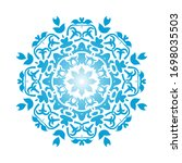 circle snowflake ornaments.... | Shutterstock .eps vector #1698035503