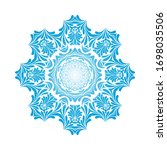 circle snowflake ornaments.... | Shutterstock .eps vector #1698035506
