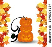 halloween greeting  invitation  ...   Shutterstock .eps vector #1698036139