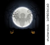 halloween greeting  invitation  ...   Shutterstock .eps vector #1698036160