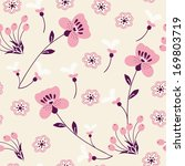 seamless pattern with flowers | Shutterstock .eps vector #169803719