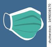 medical breathing mask  medical ... | Shutterstock .eps vector #1698038170