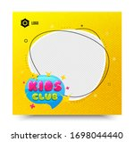 kids club icon. yellow banner...   Shutterstock .eps vector #1698044440