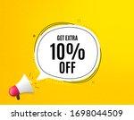 get extra 10  off sale.... | Shutterstock .eps vector #1698044509