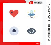 4 flat icon concept for... | Shutterstock .eps vector #1698050749