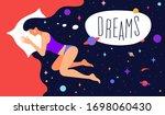 modern flat character. woman...   Shutterstock . vector #1698060430