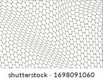 abstract wavy background with... | Shutterstock .eps vector #1698091060
