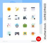 pictogram set of 16 simple flat ...   Shutterstock .eps vector #1698109603