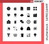 25 universal solid glyphs set...