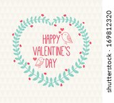 valentine greeting card with... | Shutterstock .eps vector #169812320