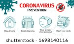 set icons of prevention... | Shutterstock .eps vector #1698140116