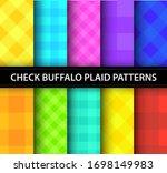 buffalo colorful check plaid... | Shutterstock .eps vector #1698149983