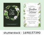 beautiful floral wedding... | Shutterstock .eps vector #1698157390