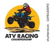 atv extreme sport racing  good...   Shutterstock .eps vector #1698160093