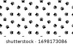 seamless pattern of black pet...   Shutterstock .eps vector #1698173086