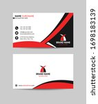 abstract business card design... | Shutterstock .eps vector #1698183139