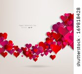 hearts on abstract love... | Shutterstock .eps vector #169818428
