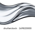 abstract chrome wave on white... | Shutterstock . vector #169820000