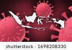 indonesia  corona virus update... | Shutterstock . vector #1698208330