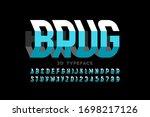 three dimensional style modern... | Shutterstock .eps vector #1698217126