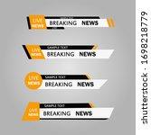 lower third tv news bars set... | Shutterstock .eps vector #1698218779