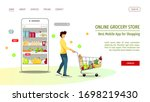 web page design template for...   Shutterstock .eps vector #1698219430