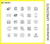 group of 25 modern lines set...   Shutterstock .eps vector #1698219673