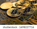 Golden Coins With Bitcoin...