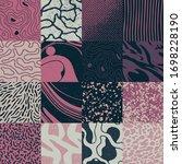 distress texture set made from... | Shutterstock .eps vector #1698228190