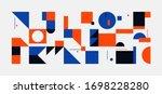 bauhaus composition artwork...   Shutterstock .eps vector #1698228280