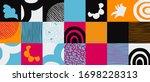 hand drawn pattern design...   Shutterstock .eps vector #1698228313