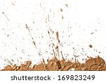 Small photo of Texture clay moving in white background