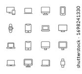 modern thin line icons set of... | Shutterstock .eps vector #1698241330