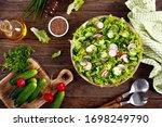 Fresh Vegan Vegetable Salad Of...