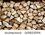 Pile Of Chopped Fire Wood...