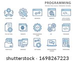 programming icons  such as...   Shutterstock .eps vector #1698267223