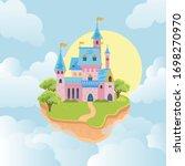 castle in sky. fairytale... | Shutterstock .eps vector #1698270970