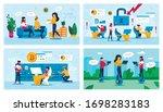 students leisure  hacker attack ...   Shutterstock .eps vector #1698283183