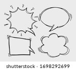 a set of comic bubbles and... | Shutterstock .eps vector #1698292699