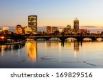 Boston Skyline 2014 At Twiligh...