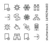 set of web related vector line...