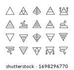 vector line icons collection of ... | Shutterstock .eps vector #1698296770