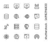 icon set of internet. editable...