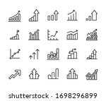 vector line icons collection of ... | Shutterstock .eps vector #1698296899