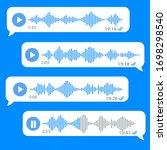 white voice message bubbles on... | Shutterstock .eps vector #1698298540