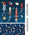 rockets in space. | Shutterstock . vector #169831406