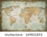 vintage old world map background | Shutterstock . vector #169831853