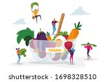 healthy lifestyle  organic... | Shutterstock .eps vector #1698328510