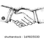 sketch handshake  | Shutterstock .eps vector #169835030
